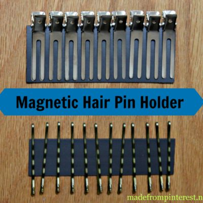 Magnetic Strip for Hair Pin Storage