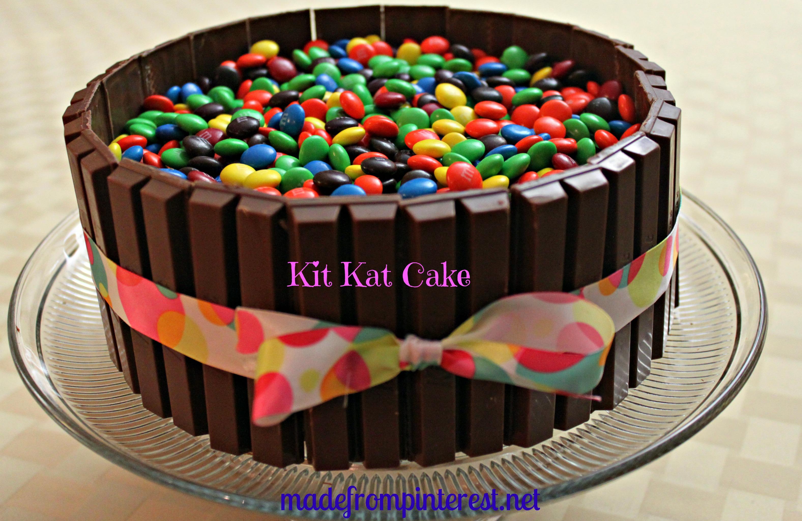Kit Kat M&M Cake
