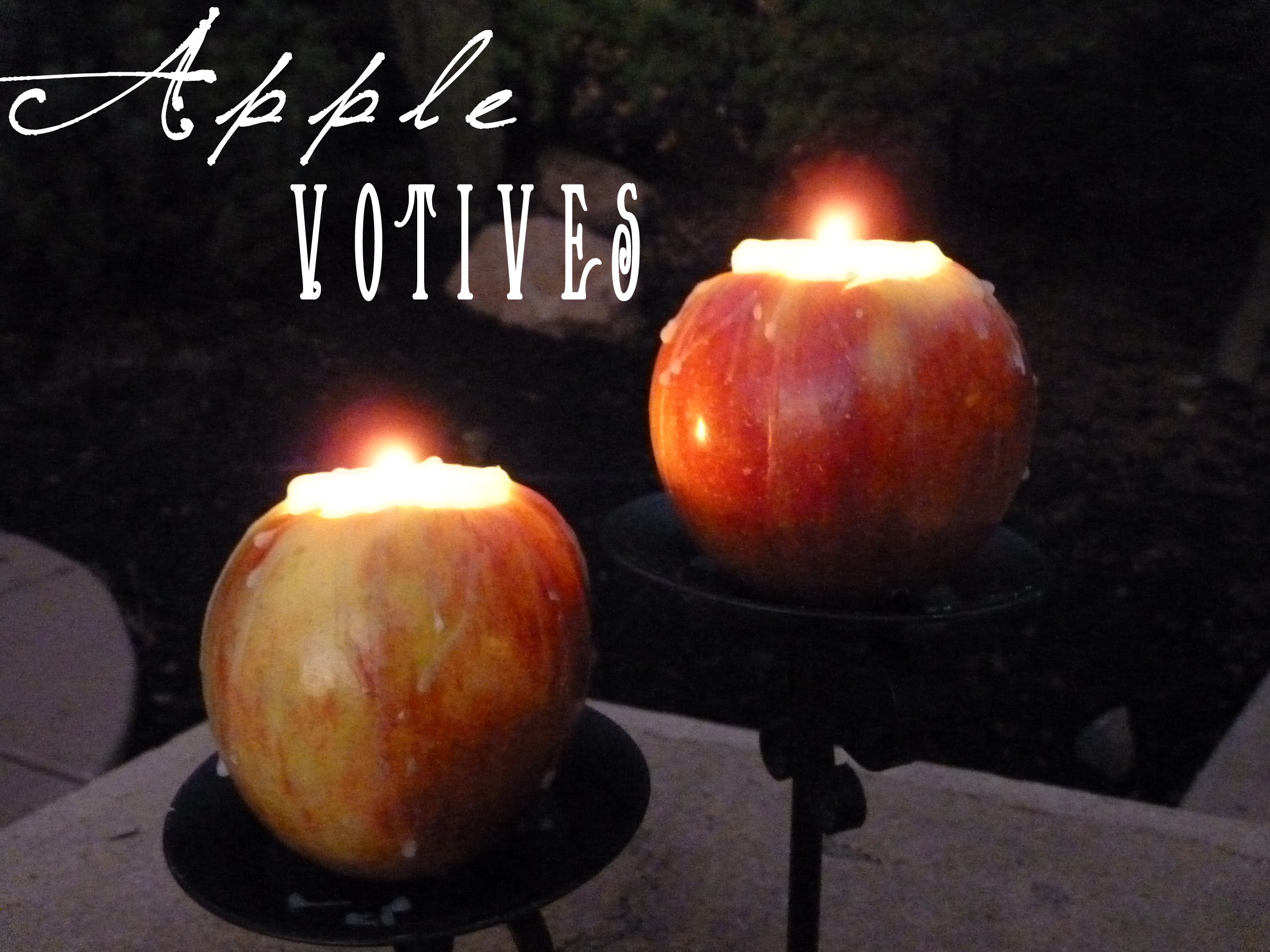 Apple Candle Votives