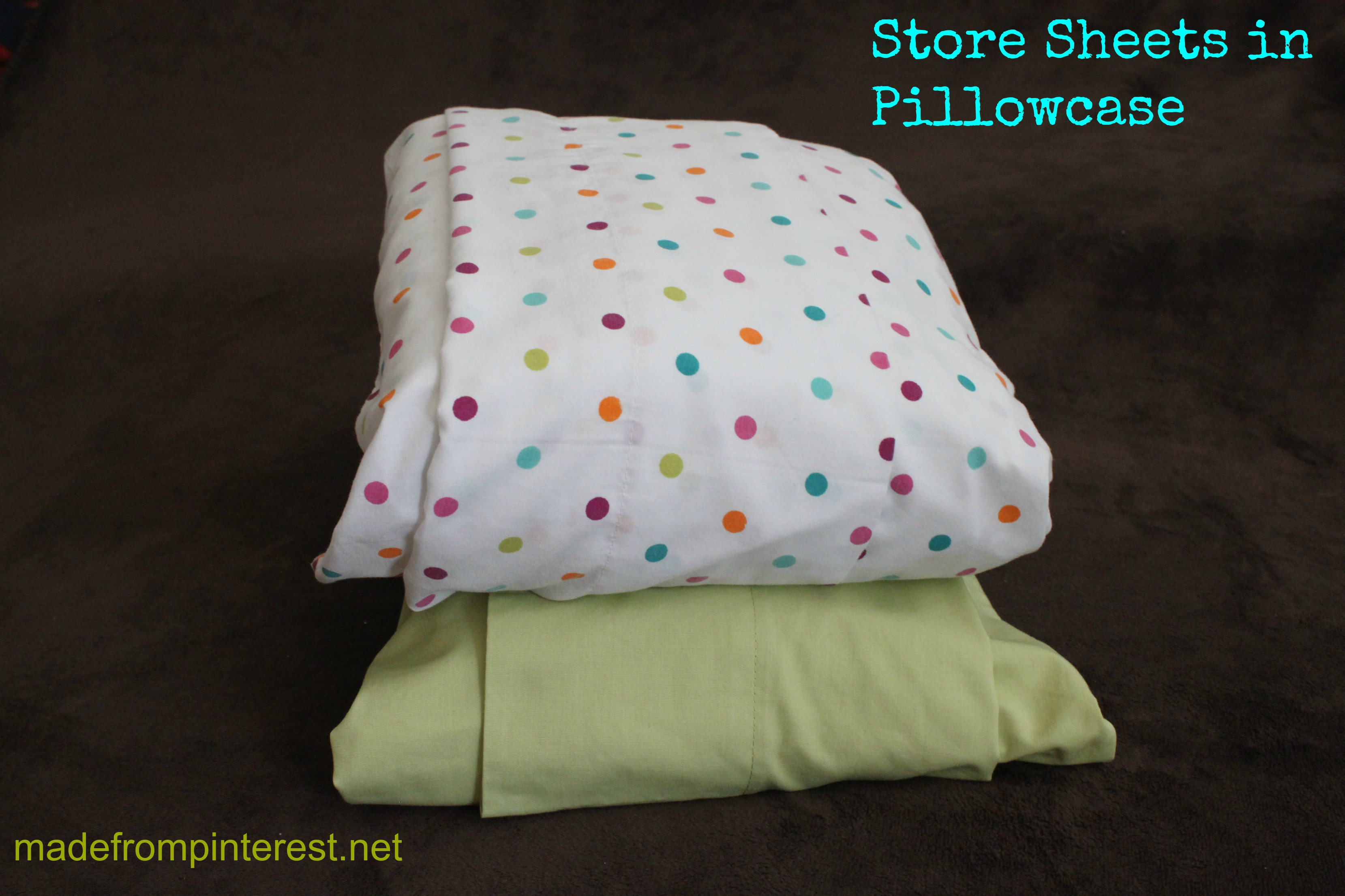 Storing Sheets in Pillowcases