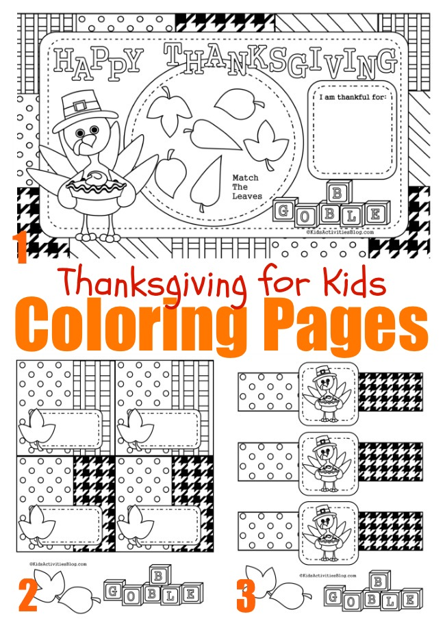 FREE Thanksgiving Coloring Pages Printable