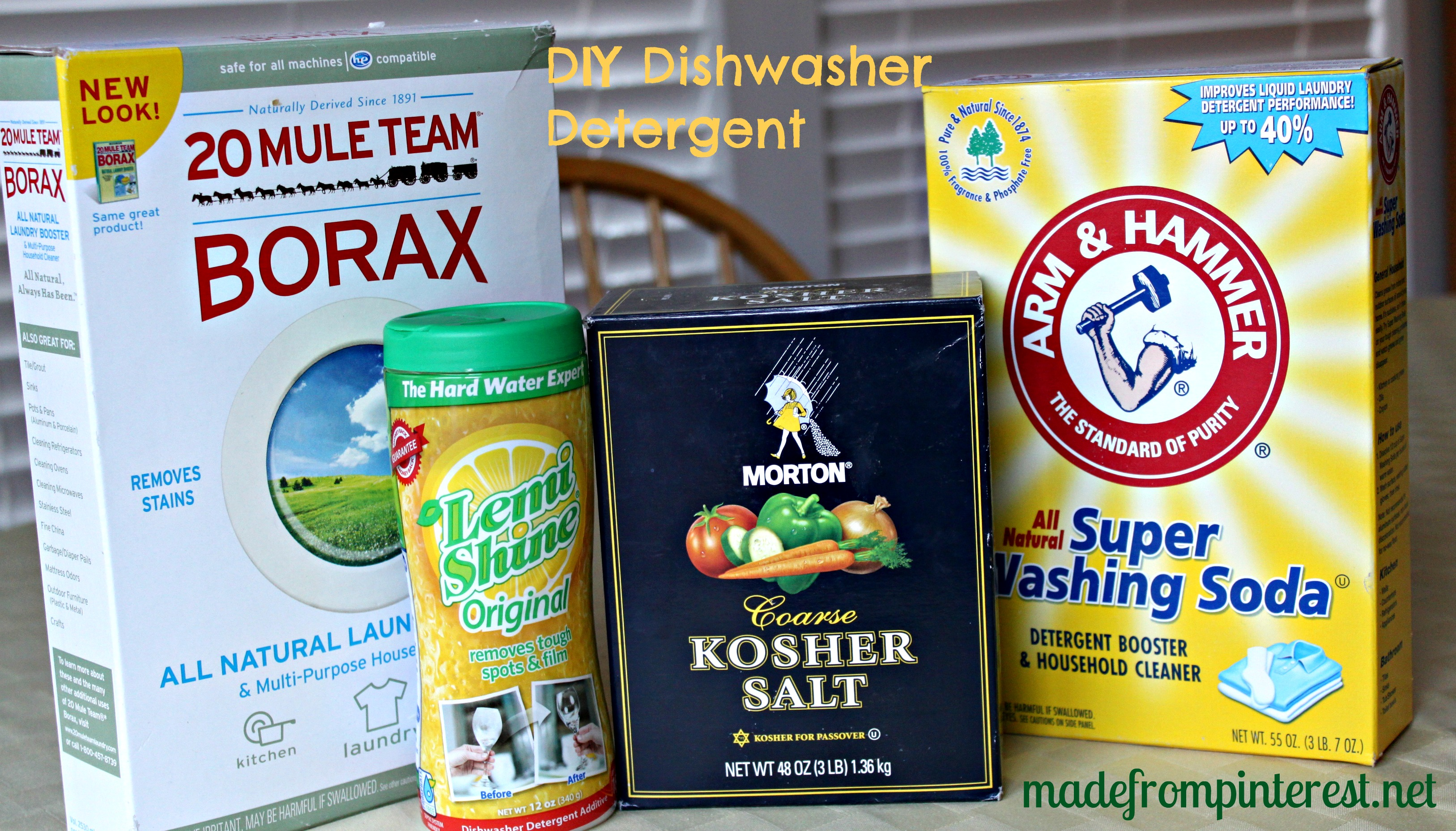 DIY – Make Your Own Dishwasher Detergent