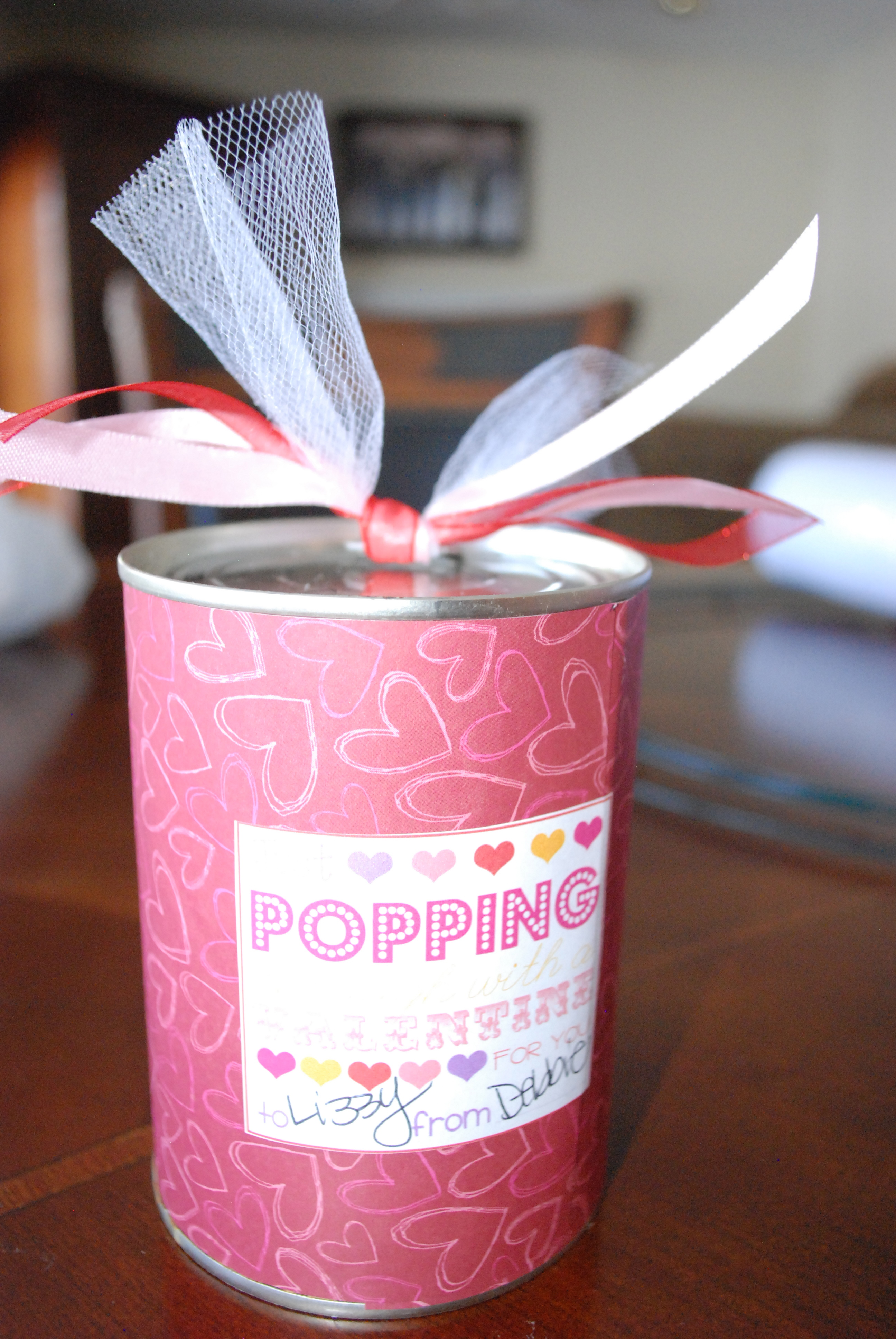 Pop Top Cans for Valentine's