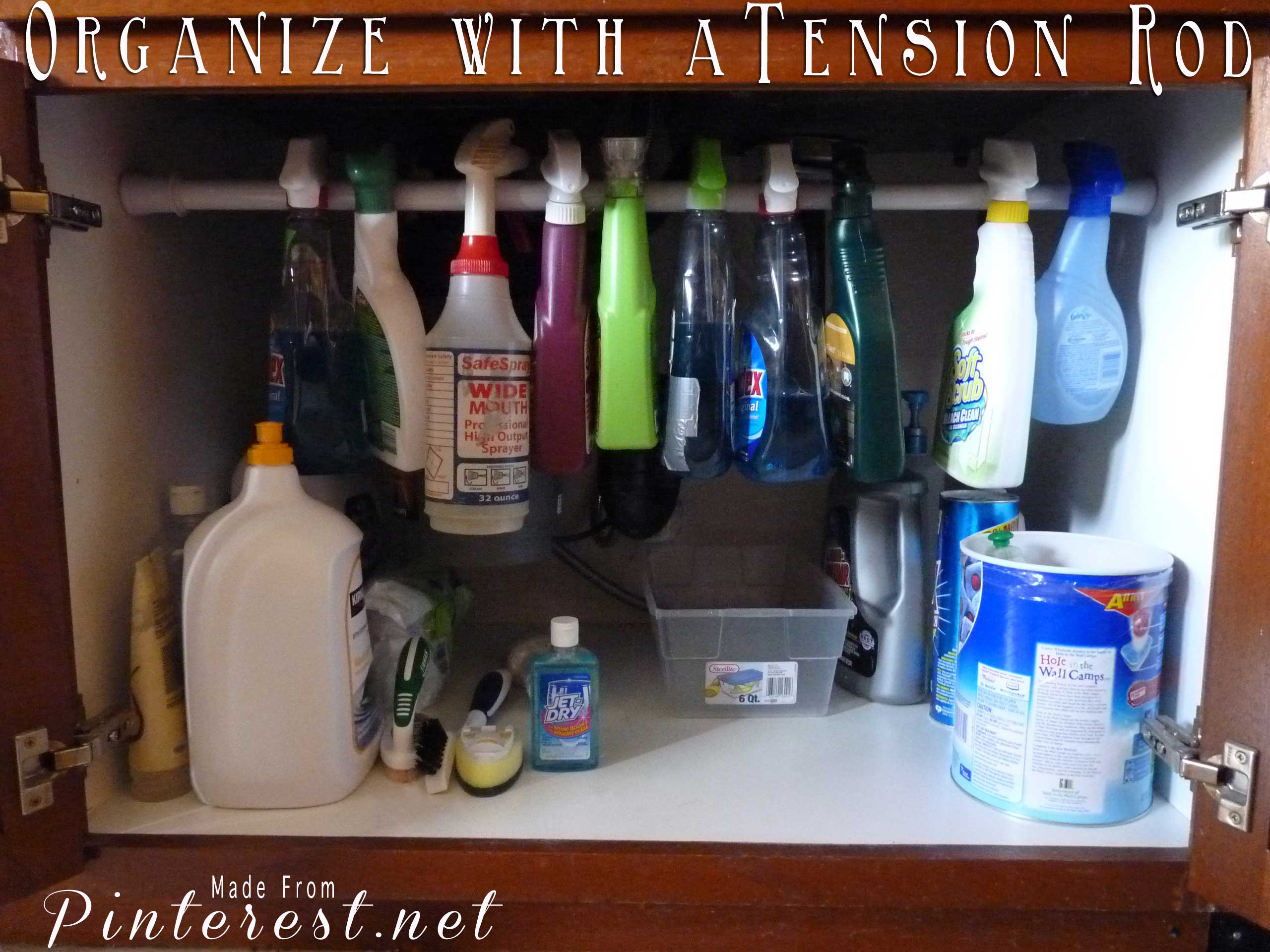 Organize with a Tension Rod
