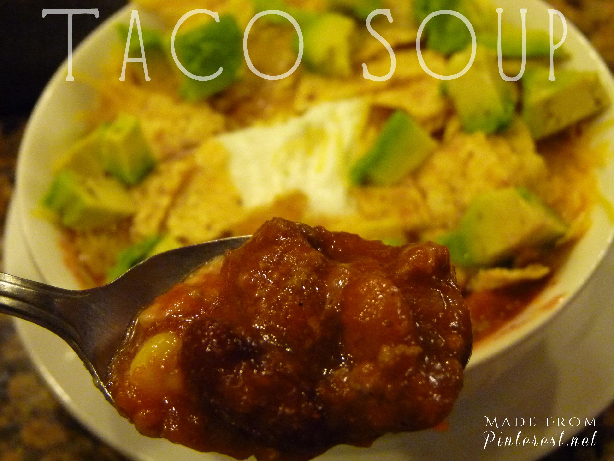 Taco Soup from Paula Dean