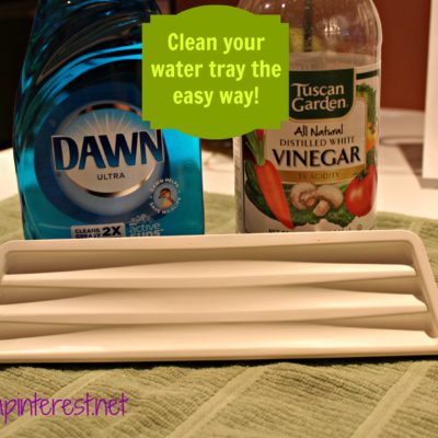 Refrigerator Water Tray Vinegar Cleaning Trick