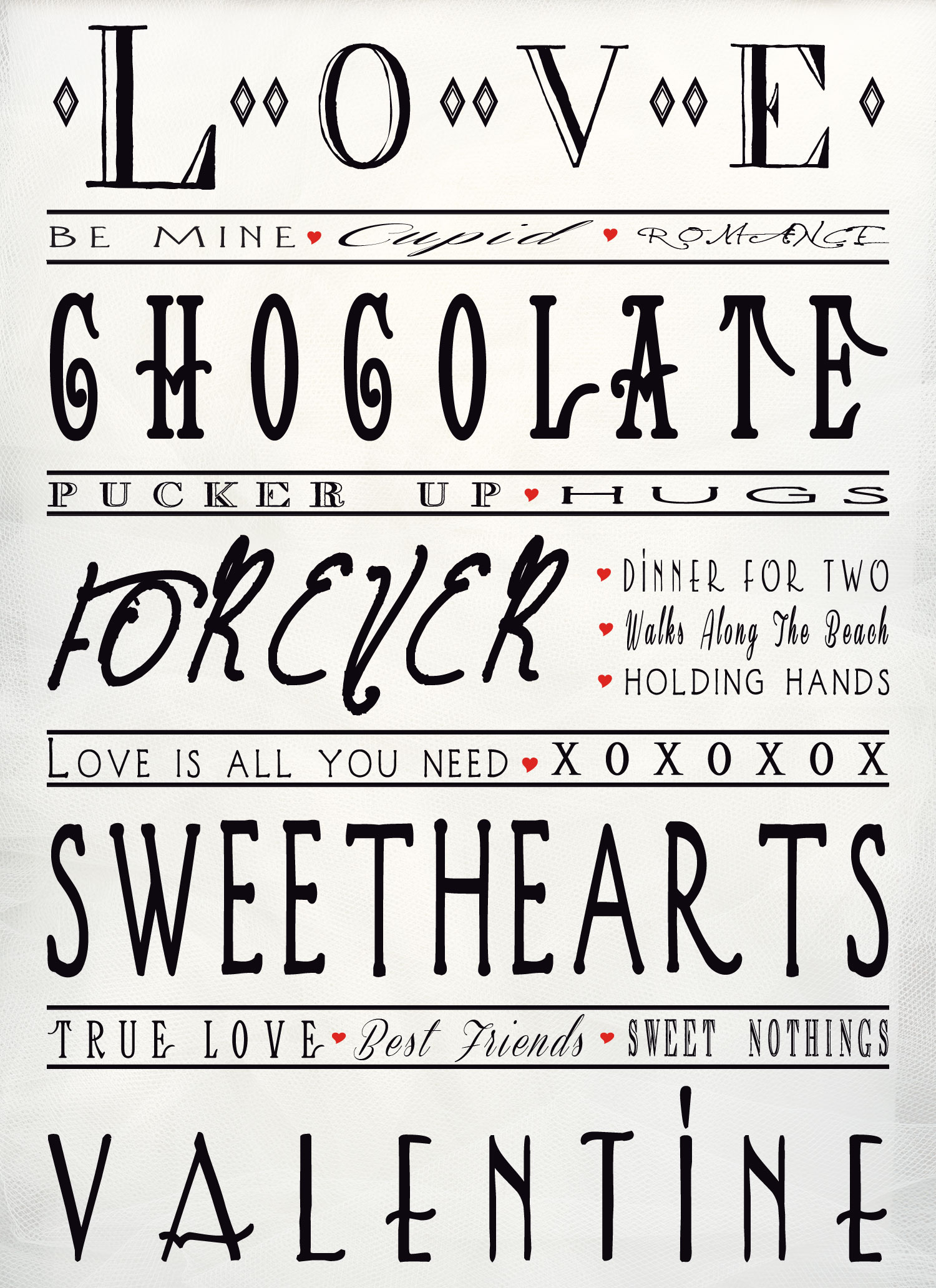 Versatile image pertaining to printable valentines black and white