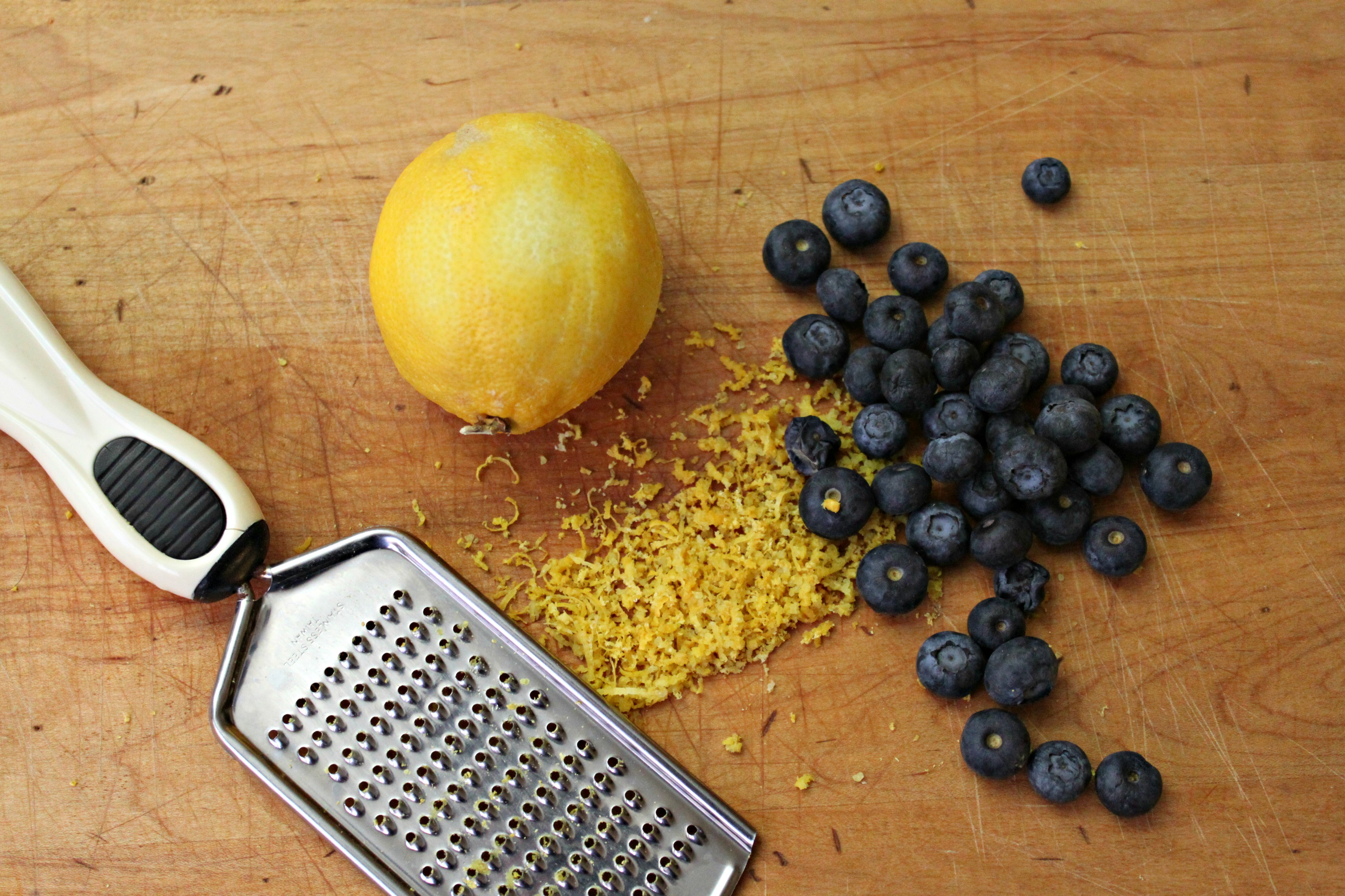 lemon zest and blueberries