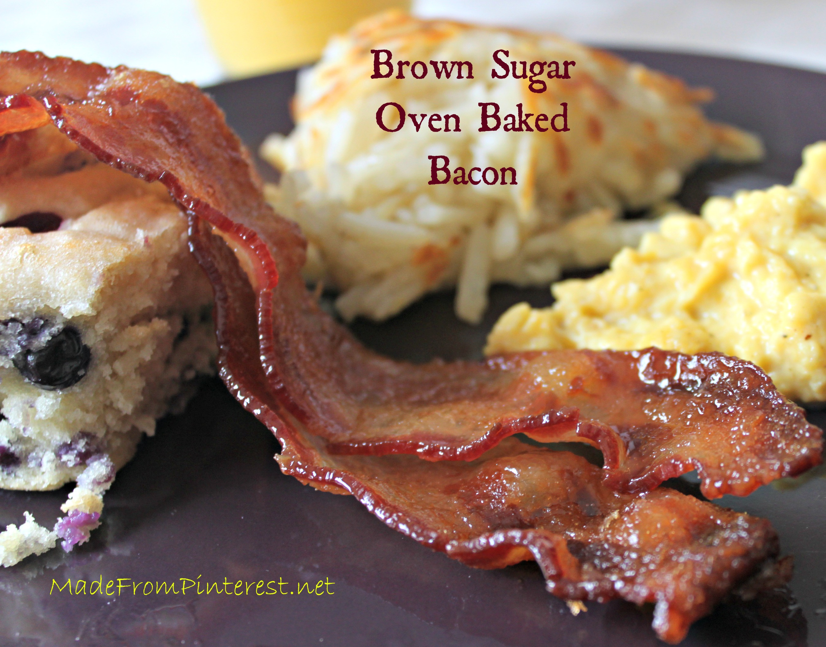 Brown Sugar Oven Baked Bacon