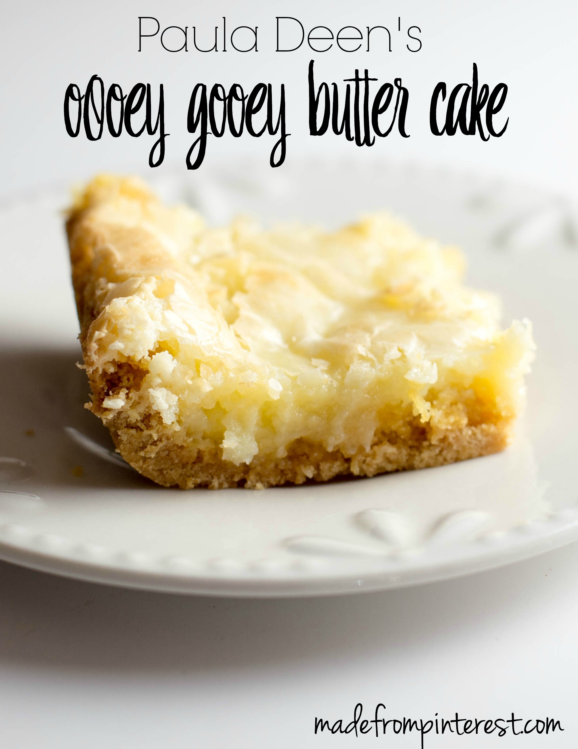 Recipes for gooey butter cake from scratch