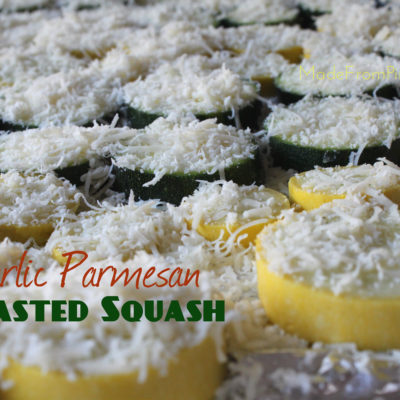 Garlic Parmesan Roasted Squash