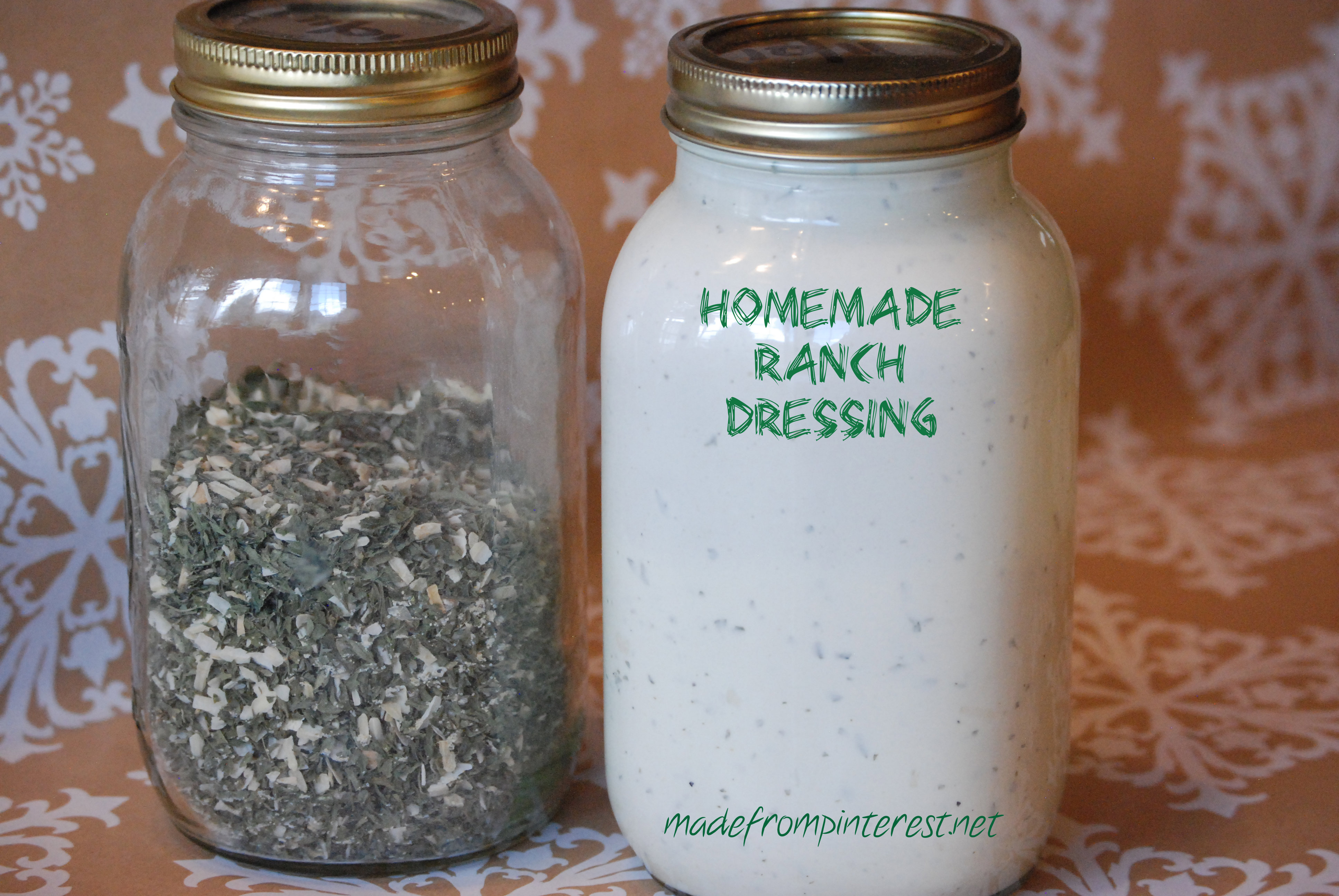 Homemade Ranch Dressing Recipe - Made From Pinterest