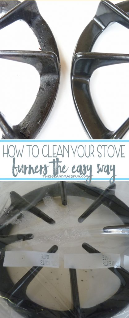 I had months of petrified junk on my stove burners. What can I say, life gets busy, and the little things don't get done. I kept procrastinating cleaning them because I knew it would be a nasty job. Then I found this quick, easy cleaning method that requires little to no scrubbing. Life is still busy and I have clean stove burners!