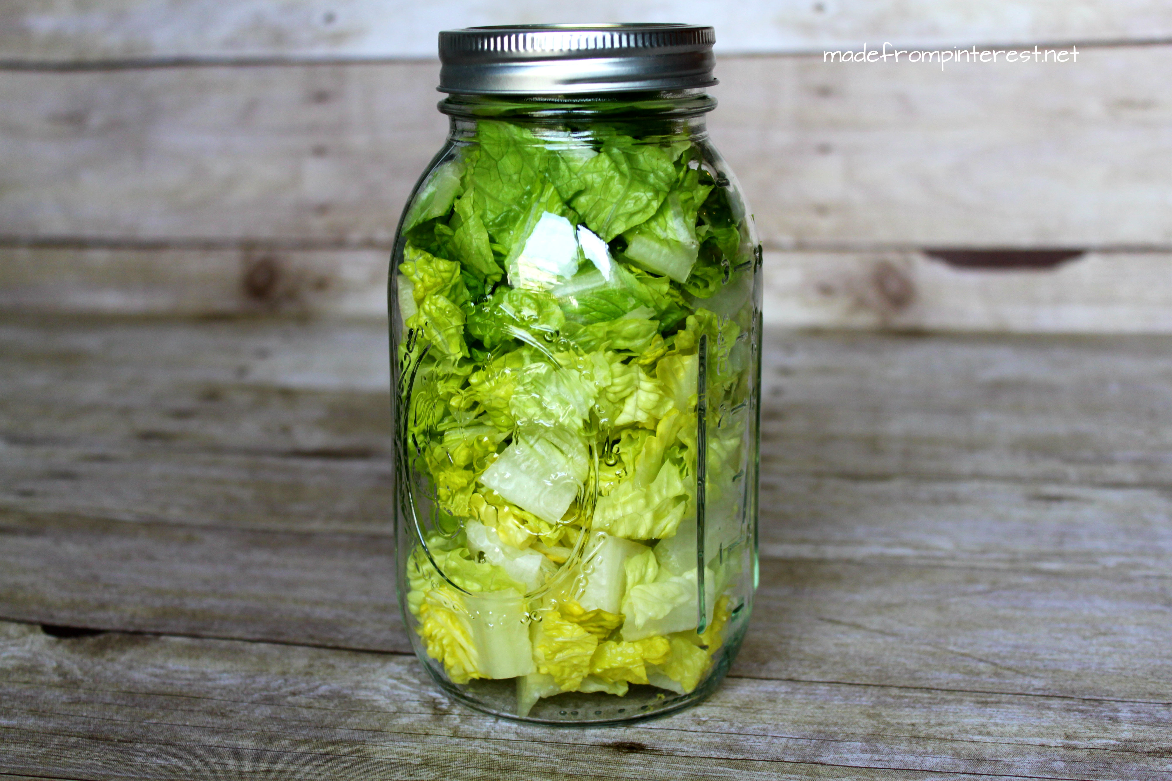 Madefrompinterest.net lettuce storage contest winner. Stores more lettuce and takes less space in the fridge
