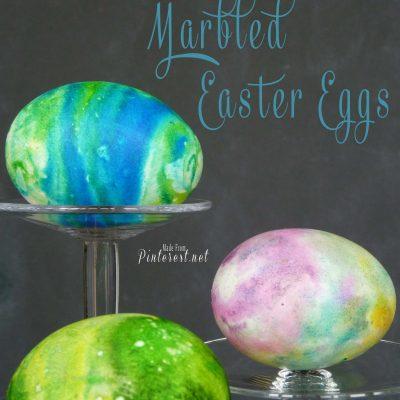 Shaving Cream Marbled Easter Eggs