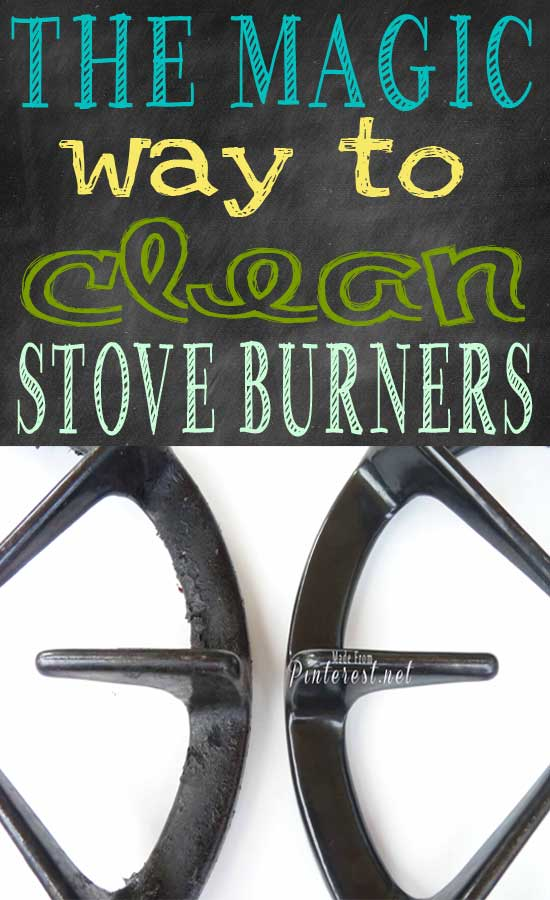 The Magic way to Clean Stove Burners