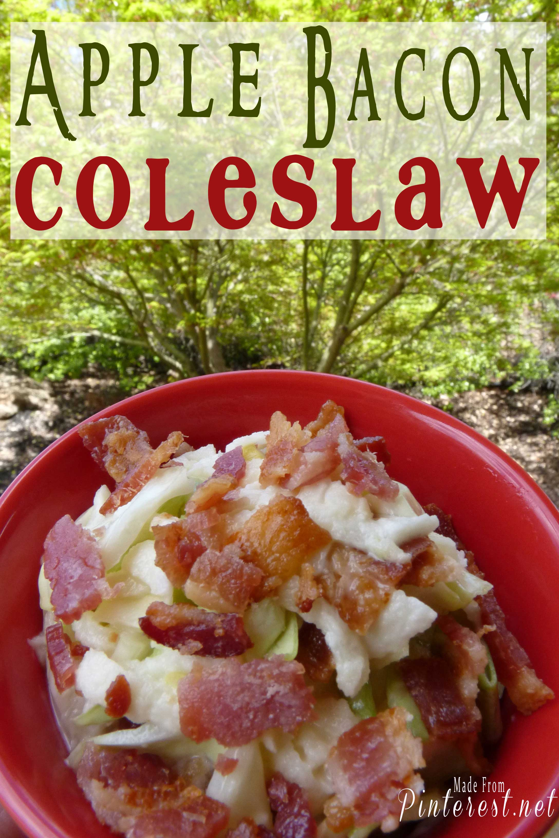 Apple Bacon Coleslaw #Apple #Bacon #Coleslaw