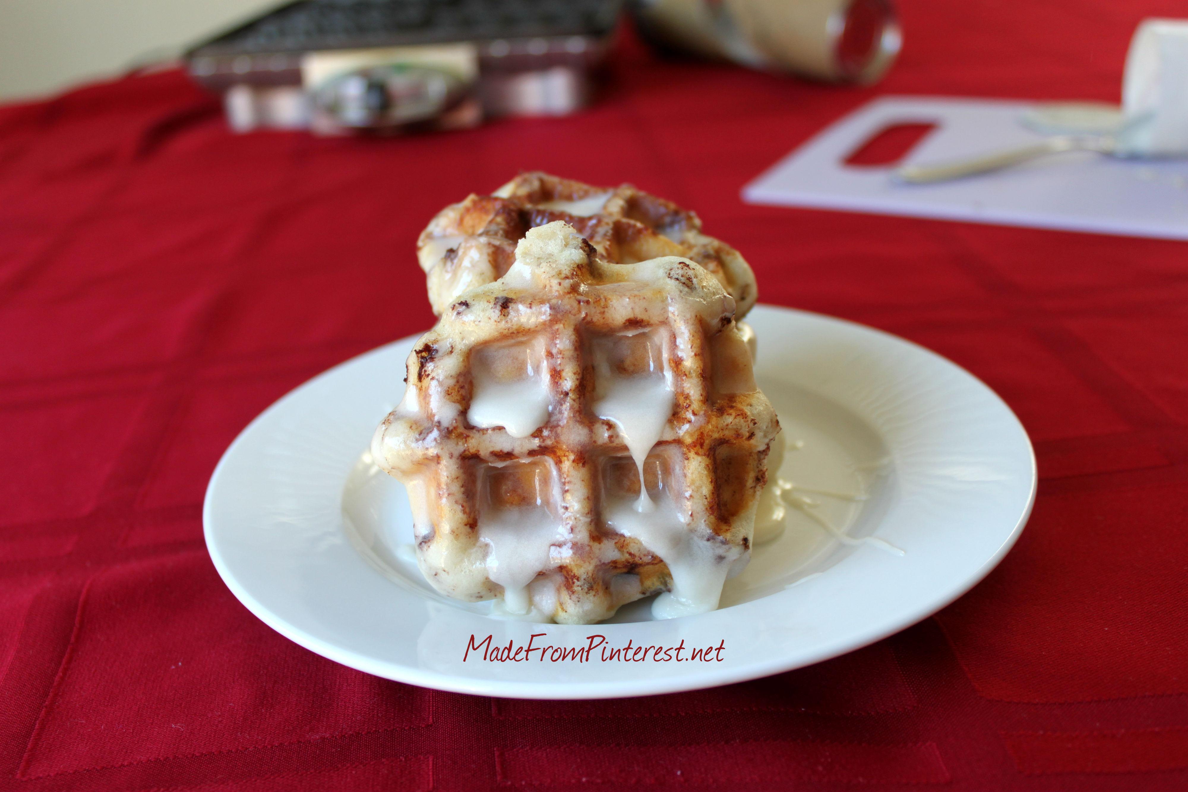 Cinnamon Roll Waffles MadeFromPinterest.net