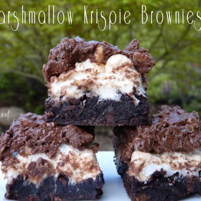 Marshmallow Krispie Brownies