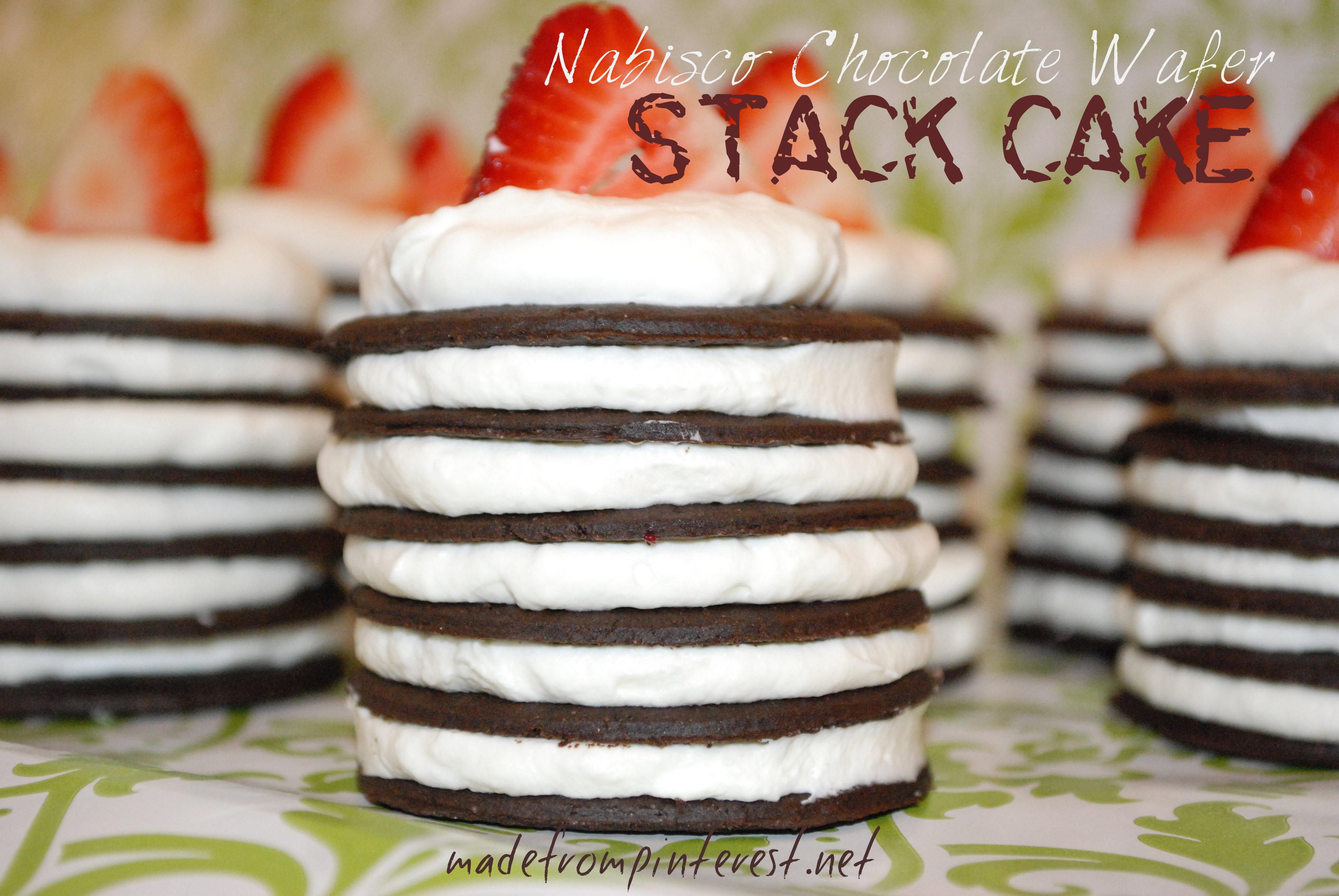 Nabisco Chocolate Wafer Cookie Cake