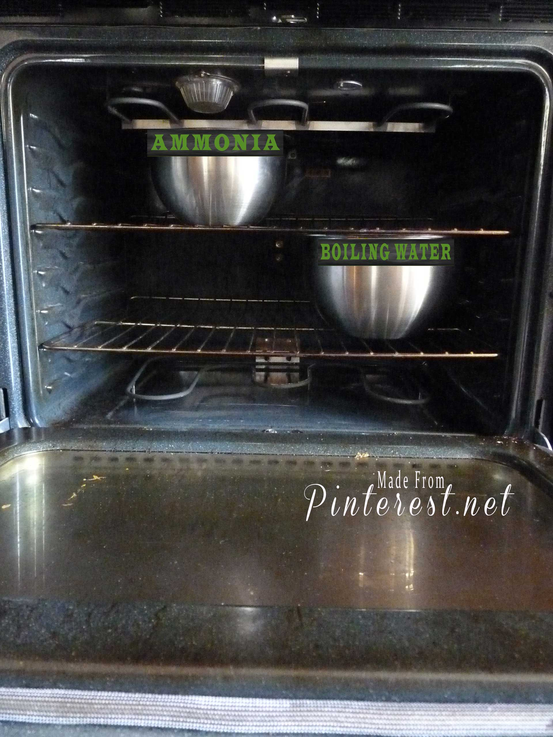 How to clean an oven with ammonia