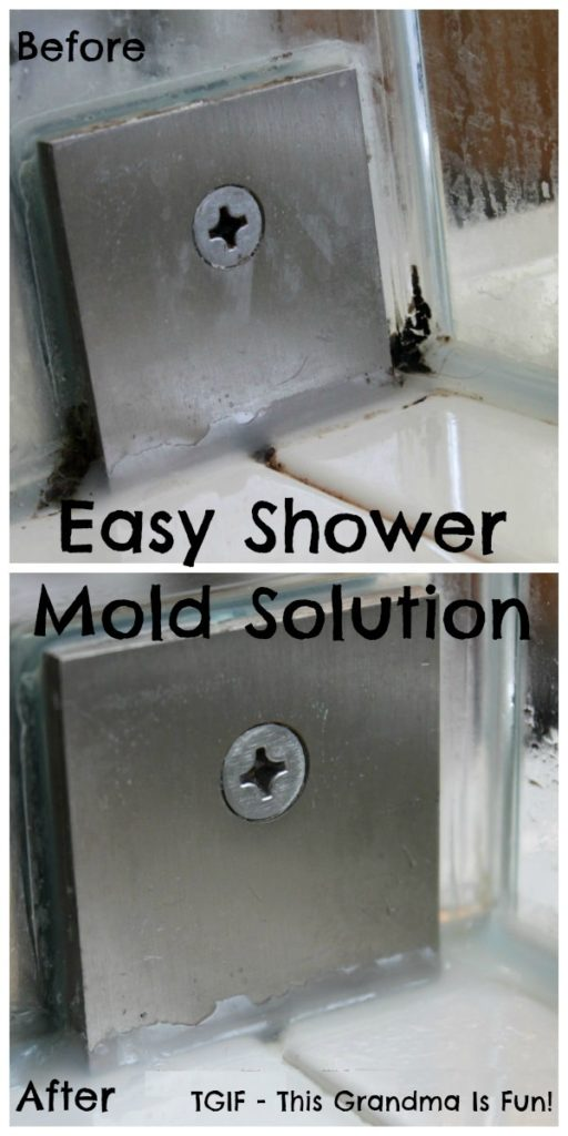This is THE solution for shower mold in impossible to reach places. I didn't even have to scrub!