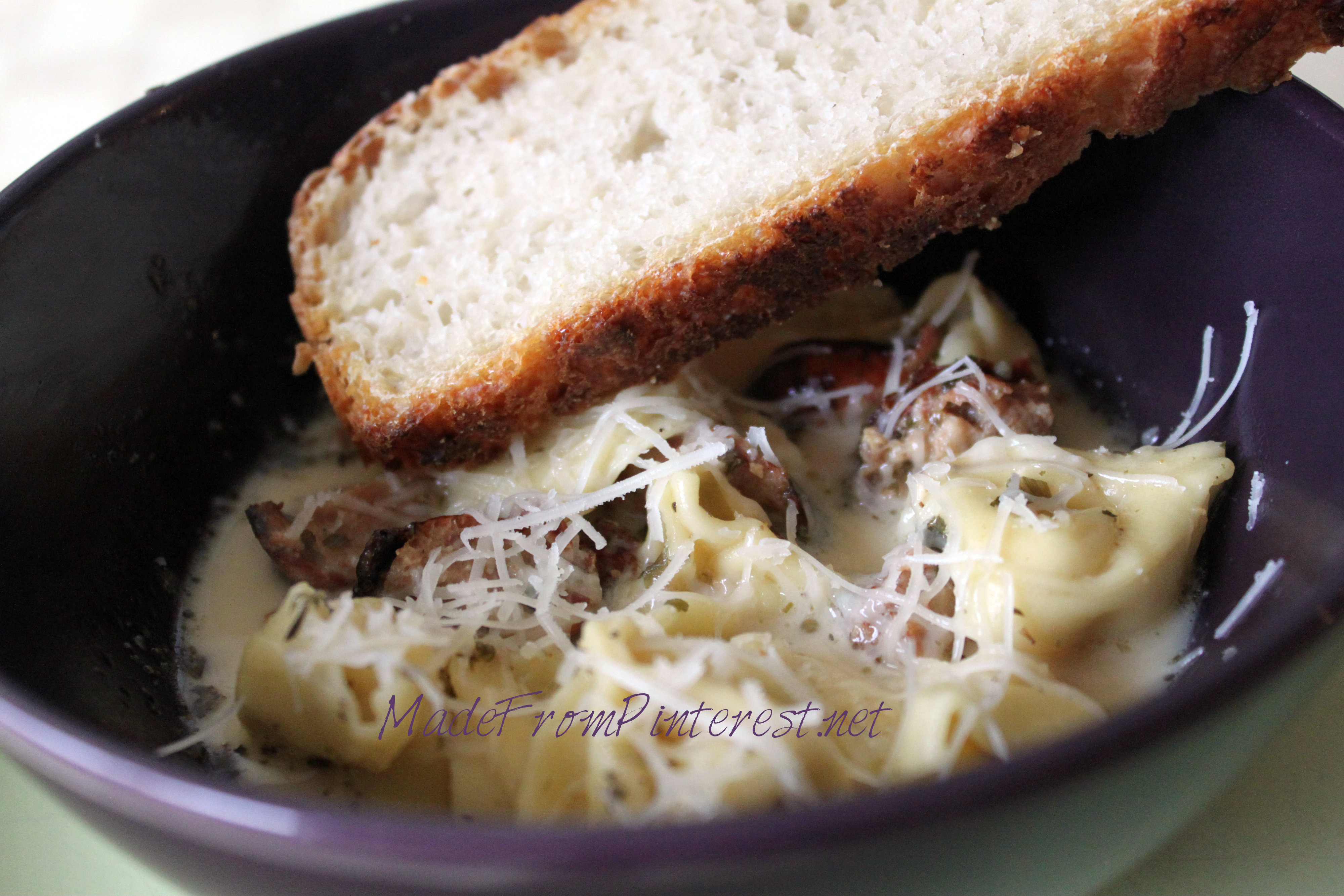 Tortellini Sausage Soup. Would be great for a quick weeknight meal. MadeFromPinterest.net