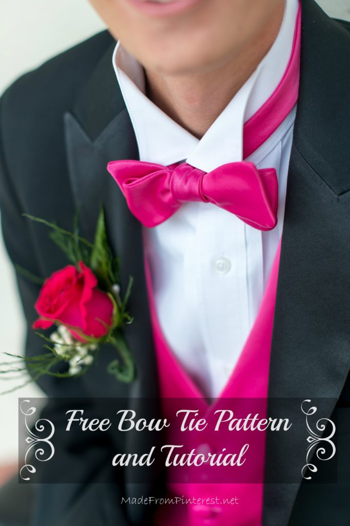 A classic, simple bow tie pattern with instructions. MadeFromPinterest