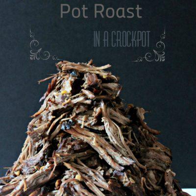 Balsamic Pot Roast in a Crockpot