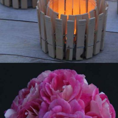 Clothes Pin Votives