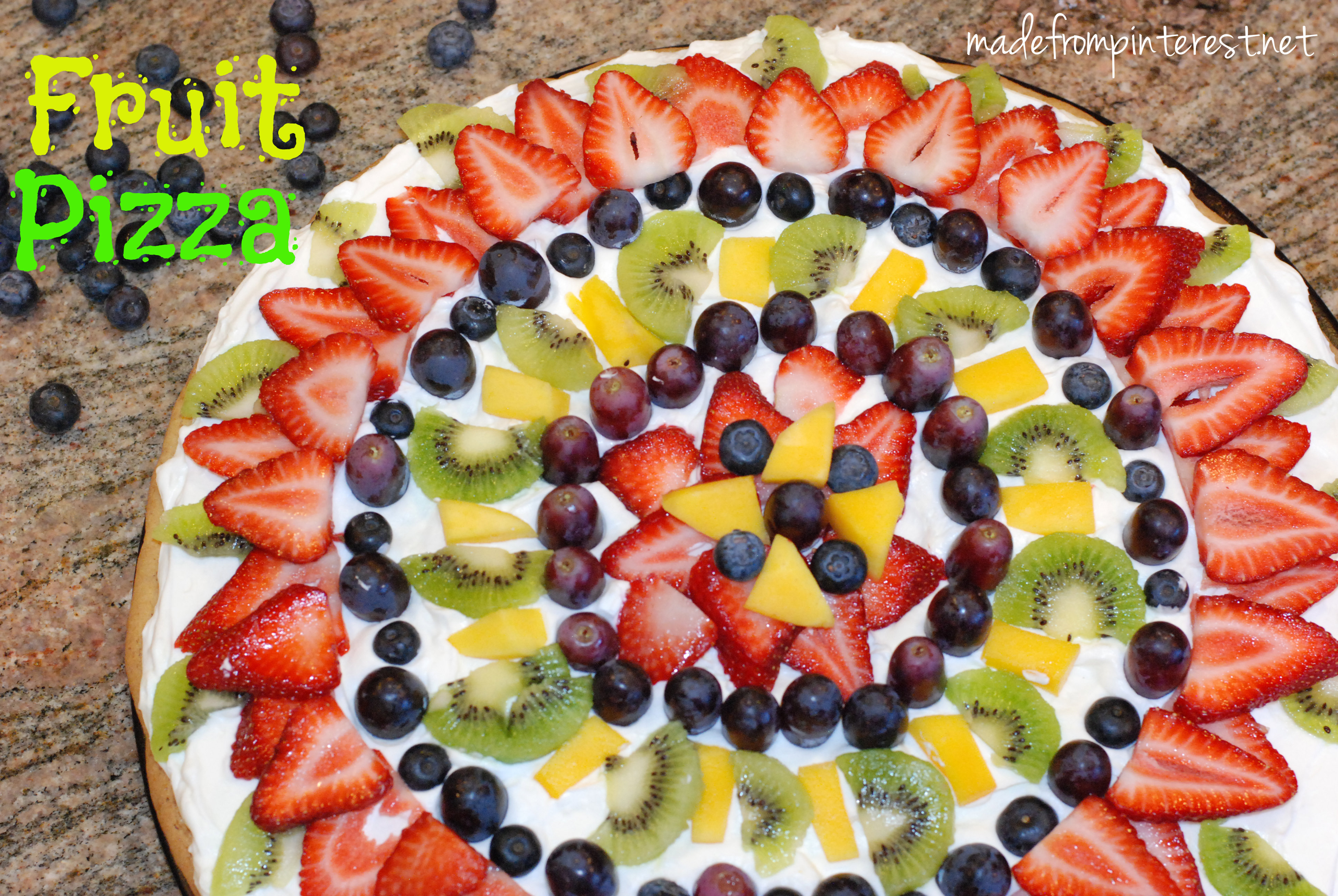 ... Fruit Pizza because so much of the fruit is available fresh. Isn't