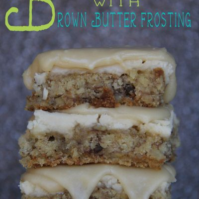 Gluten Free Banana Bars with Brown Sugar Frosting