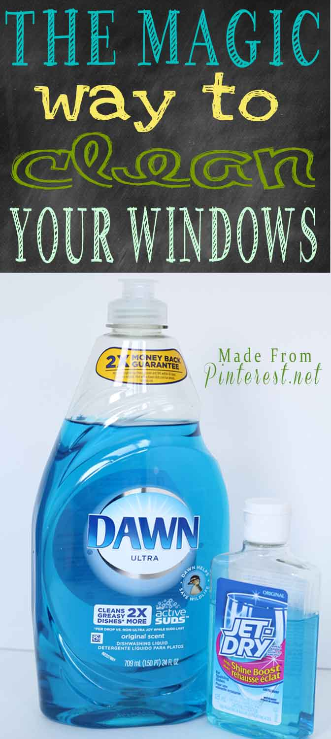 The Magic Way To Clean Your Windows Made From Pinterest