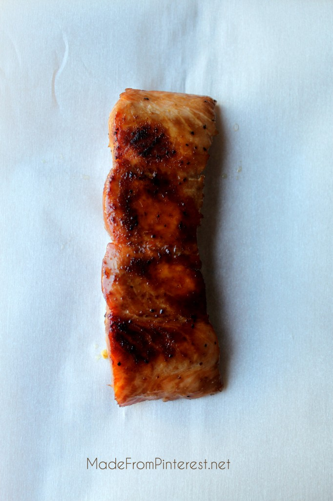 Marinated Salmon. Wrap in foil and bake for 15 minutes. An easy, elegant meal. MadeFromPinterest.net