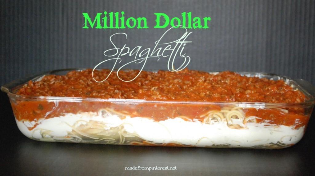 Not just any spaghetti. Million Dollar Spaghetti