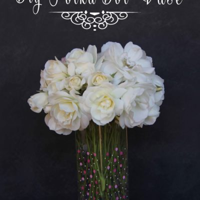 DIY Dotted Vase