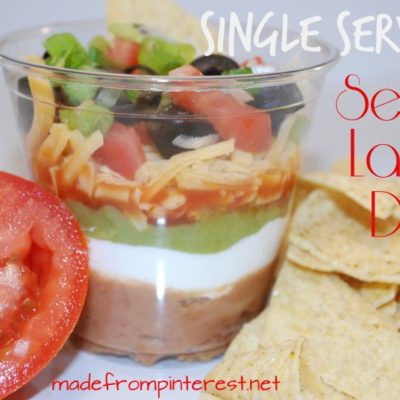 Single Serving Seven Layer Dip