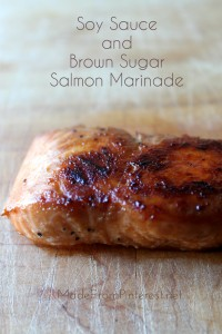 This marinated Salmon baked in a foil packet for 15 min stayed tender, and caramelized beautifully on the bottom. Makes an easy, elegant meal. MadeFromPinterest.net