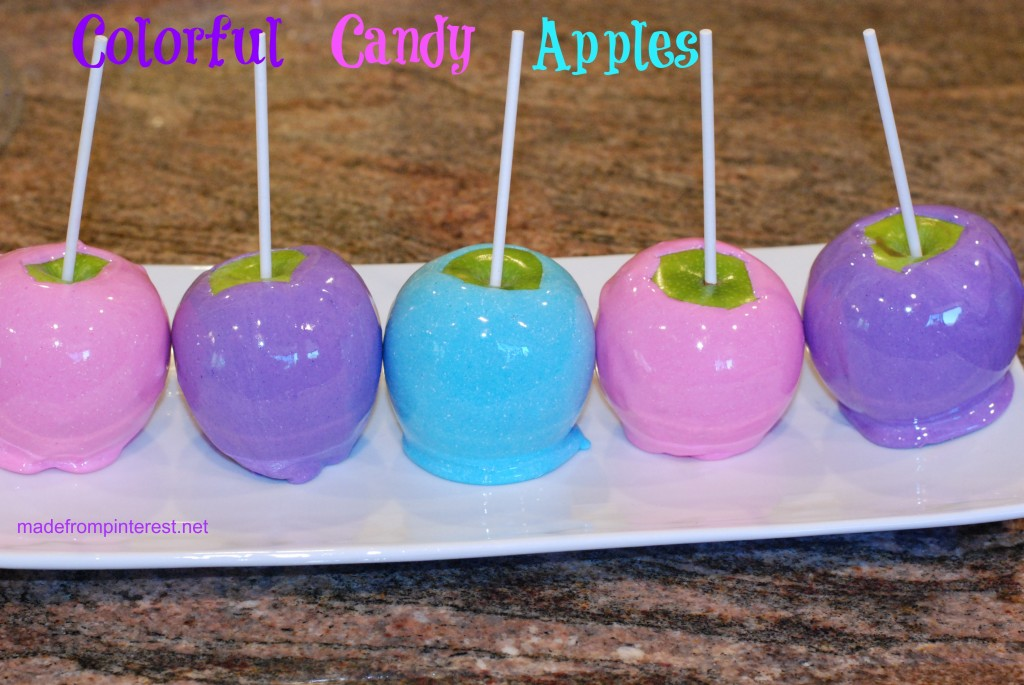 A new twist on the old hard red candy apples! Make them in these updated colors! madefrompinterest.net