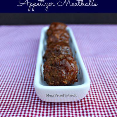 Kickin' Appetizer Meatballs