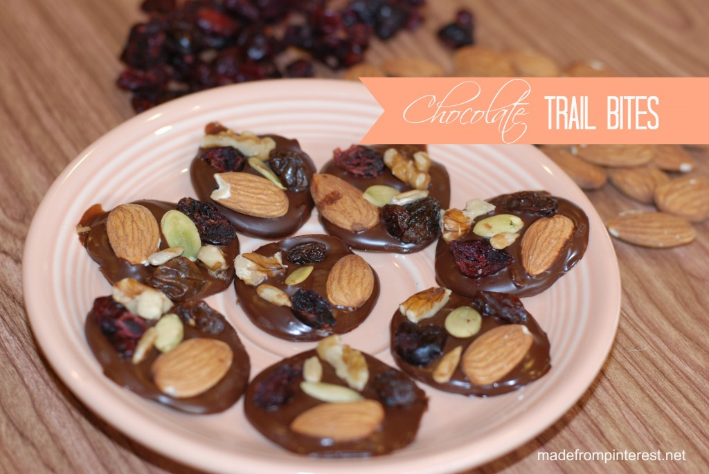 Healthier Chocolate Trail Bites | madefrompinterest.net
