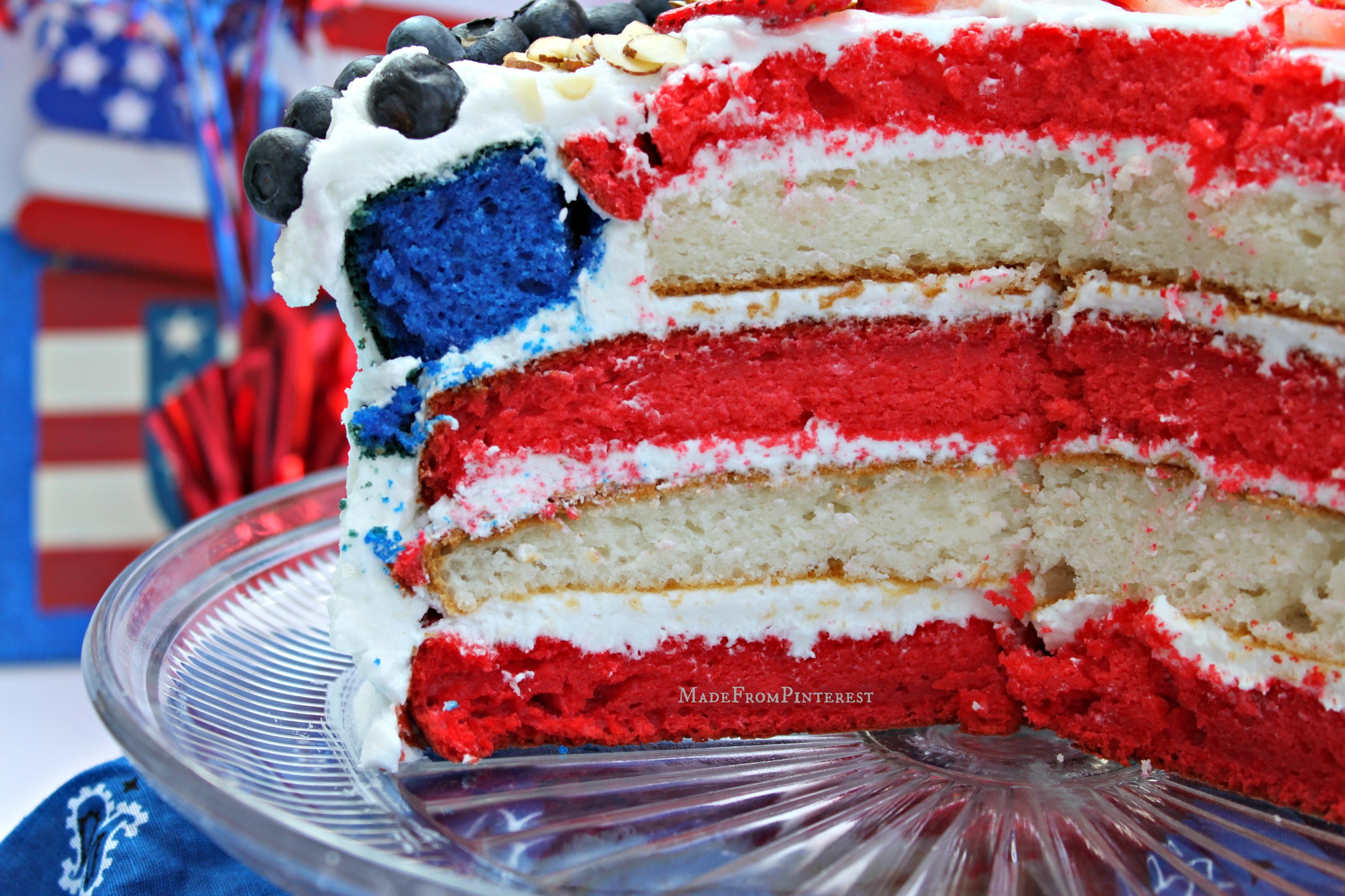American Flag Cake - TGIF - This Grandma is Fun