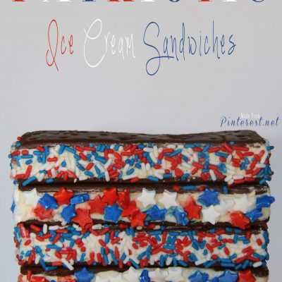 Patriotic Ice Cream Sandwiches