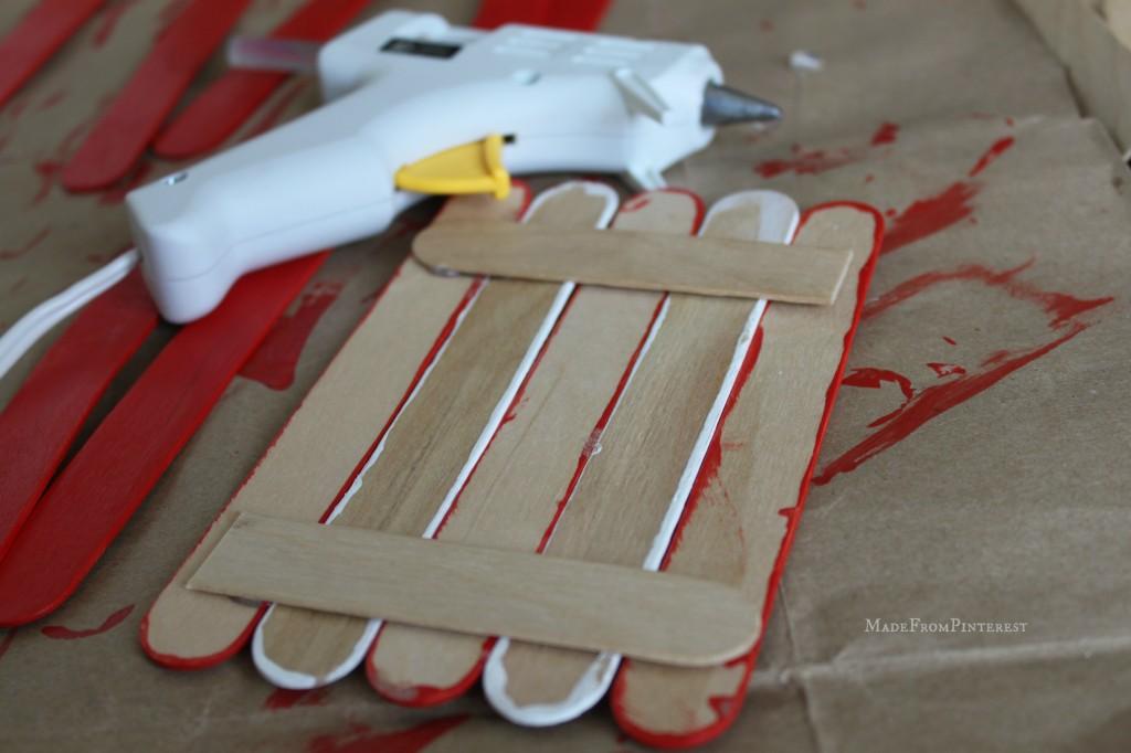 Kids American Flag Craft back glued MadeFromPinterest