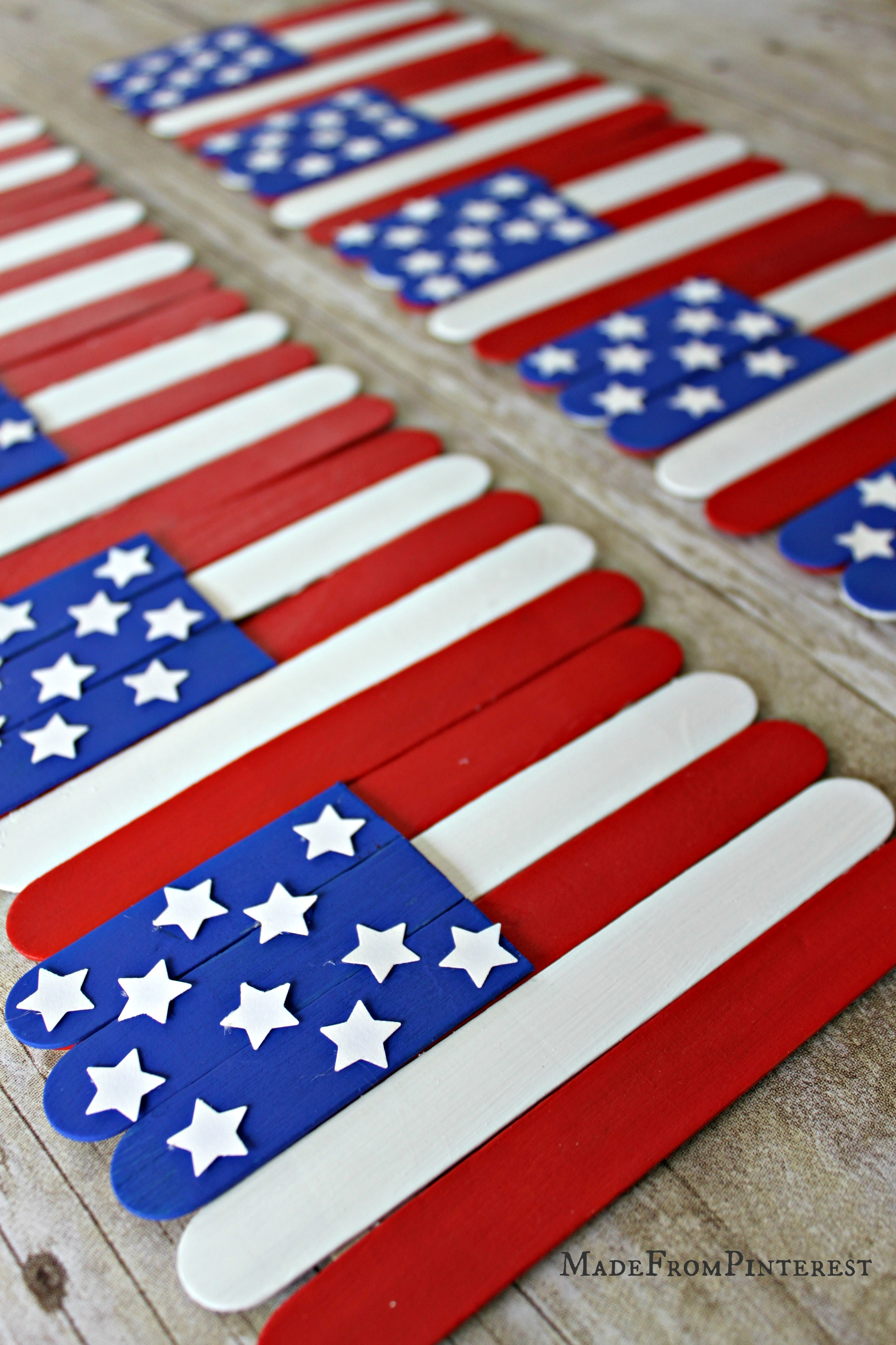 Popsicle Stick Flag Craft Tgif This Grandma Is Fun