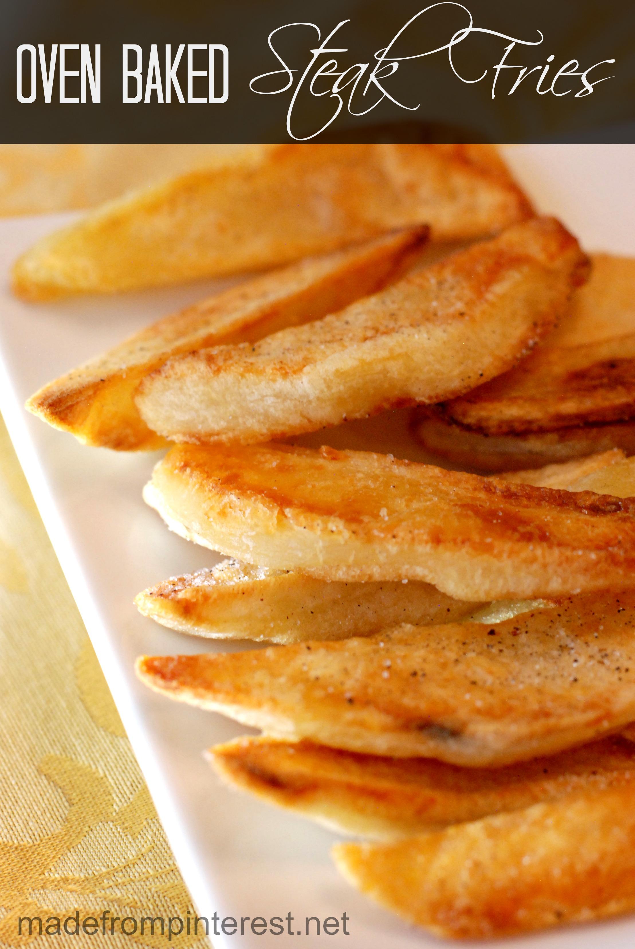 Oven Baked Steak Fries | madefrompinterest.net