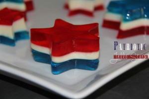 Patriotic Jello Stars - Reviewed and tested by one of the 3 crazy sisters at https://www.thisgrandmaisfun.com
