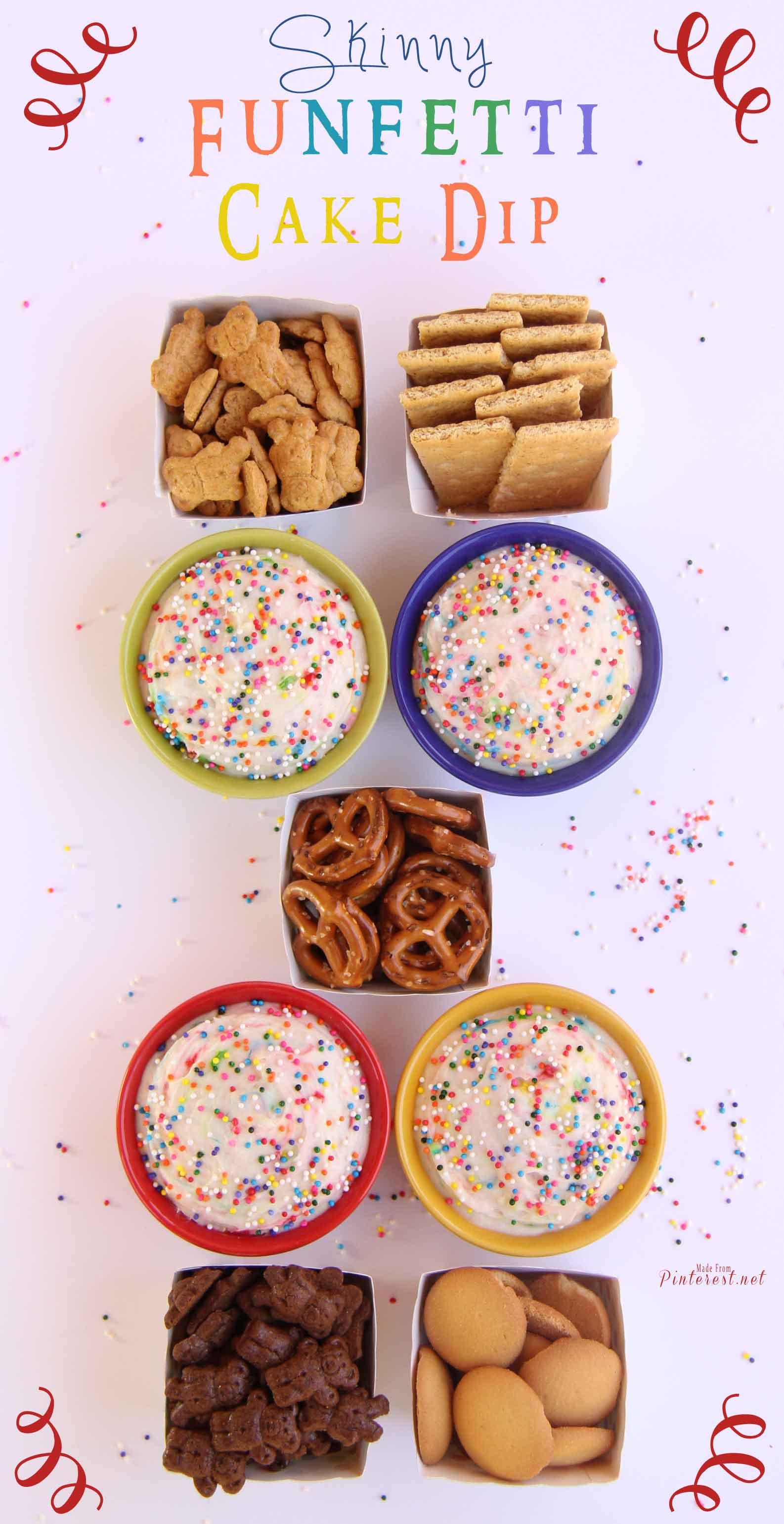 Skinny Funfetti Cake Dip