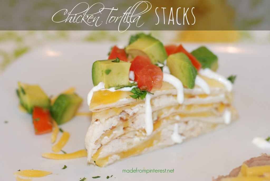 You can make these quicker than you think! Chicken Tortilla Stacks with Sour Cream Drizzle. madefrompinterest.net