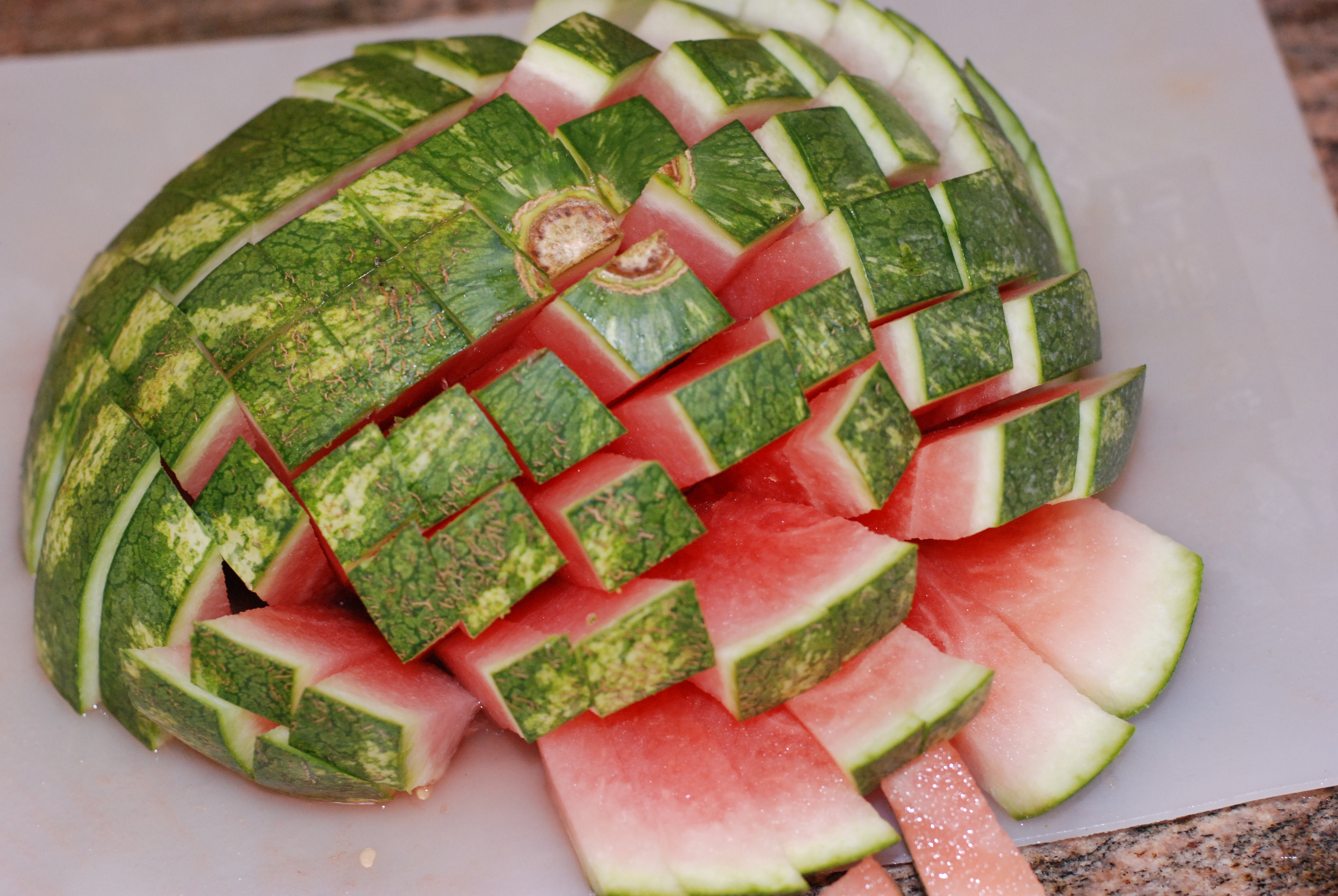 It's that time of year when all the watermelon artwork comes on the scene! These days I don't go to a baby shower without seeing a watermelon baby carriage or to a family reunion without a watermelon hedgehog. It's such a fun trend! Here is a list of 10 fun and creative ways to cut a .
